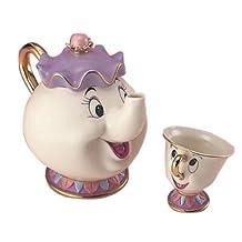 Chip-kun and Disney tea set pot Mrs. (japan import)