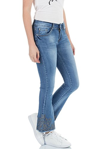 Azul malucas Vaqueros Bootcut para mujer nvvSq4XU1