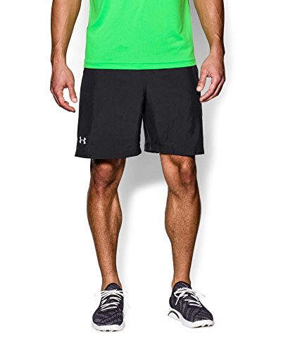 Under Armour Men's Launch Run Woven 7'' Run Shorts, Black /Reflective, Small by Under Armour (Image #2)