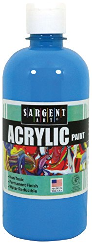 Sargent Art 24-2461 16-Ounce Acrylic Paint, Turquoise by Sargent Art