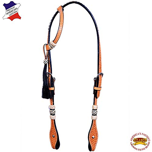 (HILASON Western Horse One Ear Headstall American Leather Tan Rawhide)