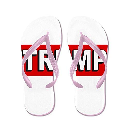Cafepress Donald Trump 2016 - Flip Flops, Roliga Rem Sandaler, Strand Sandaler Rosa