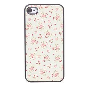 Flor Caso duro del patrón lindo para el iPhone 4/4S