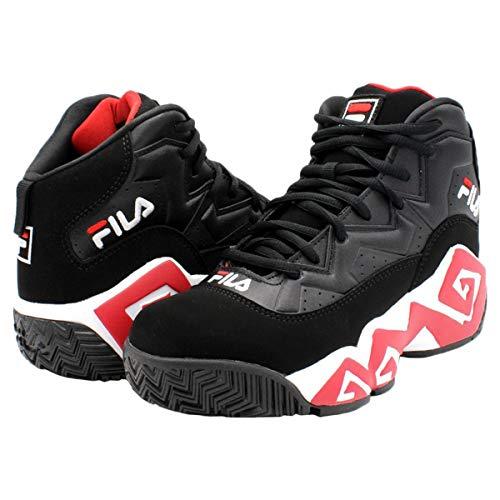 (Fila Men's MB Shoes (13, Black/Red/White))