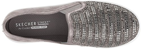 Up Double Pewter Skechers759 Shimmer Mujer 5qwZgZApz
