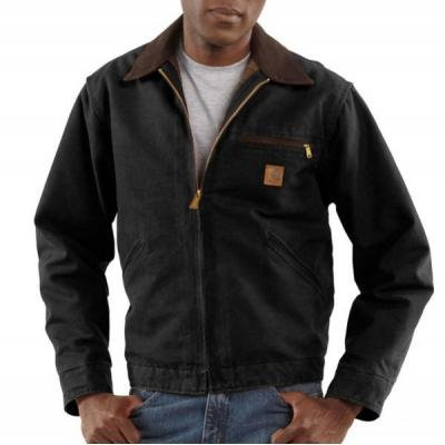 Carhartt Detroit Blanket Jacket, Black, X-Large (Sandstone Carhartt Jacket Duck)