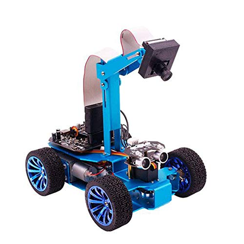 Visual Patrol Smart Car - Independent Steering Steering Robot OV7670 Camera - Multiple Remote and Independent Steering Functions