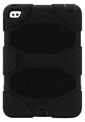 【国内在庫】 Griffin iPad B016B78FXO Mini 4ケースwithスタンド Layer、ブラックSurvivor all-terrain、[ Duty Rugged ] [保護] [ Dual Layer ] [ Heavy Duty ] [衝撃Absorpti B016B78FXO, GNINE:004c382c --- a0267596.xsph.ru