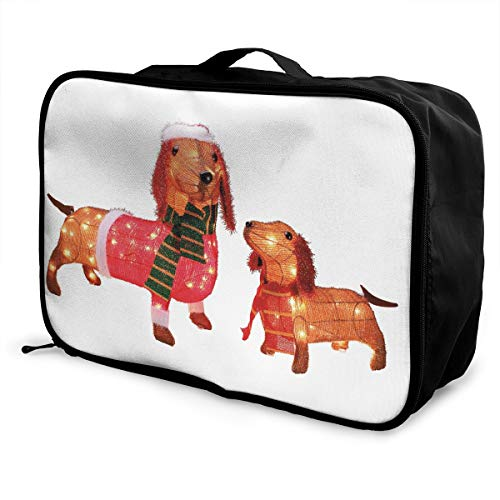Travel Bags Wiener Dogs Portable Foldable Trolley Handle Luggage Bag