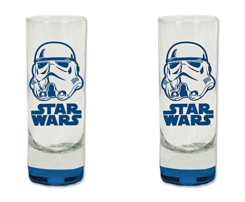 2-pc Set Star Wars StormTrooper Colored Bottom Glass Tall Sh