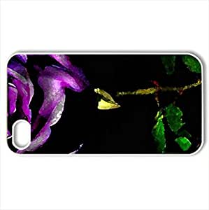 A Beautiful Rose - Case Cover for iPhone 4 and 4s (Flowers Series, Watercolor style, White)