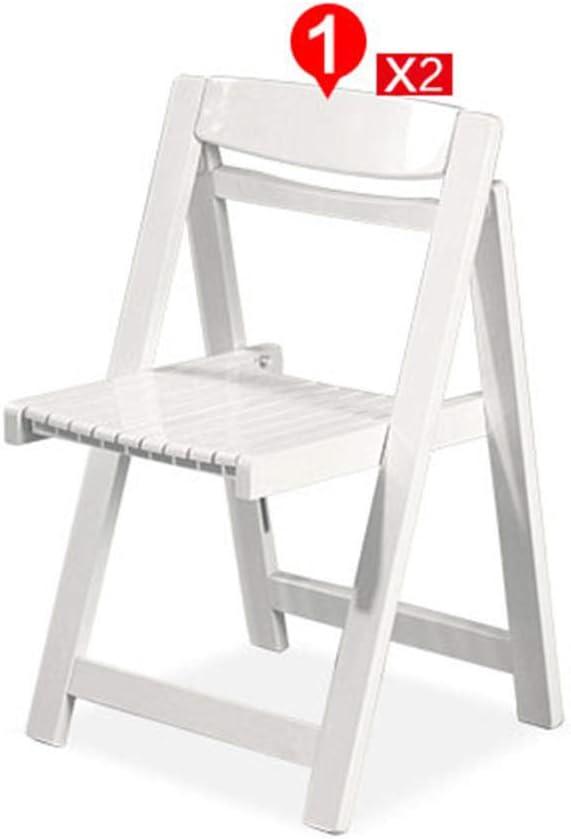 Sillas de Comedor Juego de 4 sillas Plegables de Madera Sillas de Cocina Juego de Comedor Mesa de Comedor y sillas Juego de Sala Blanco: Amazon.es: Hogar