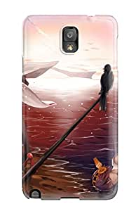 Cute Appearance Cover/tpu KUQsByN9256CkYwg Girls Animal Bird Clouds Headband Hiei Kancolle Japanese Kantai Collection Shortskirt Sky Suikaxd Thighhighs Case For Galaxy Note 3