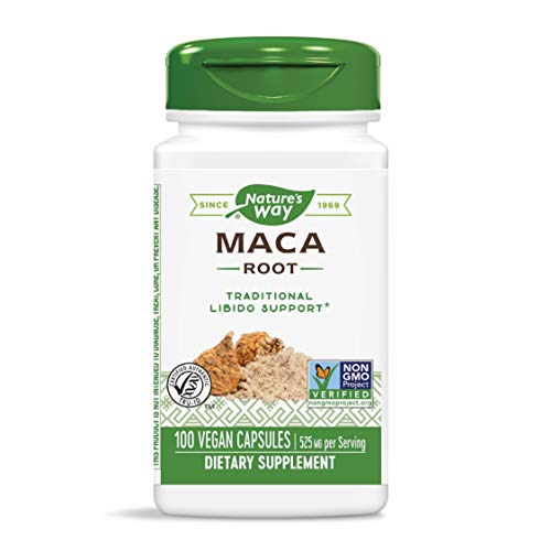 Nature's Way Premium Herbal Maca Root 525 mg, 100 VCaps (Packaging May Vary)