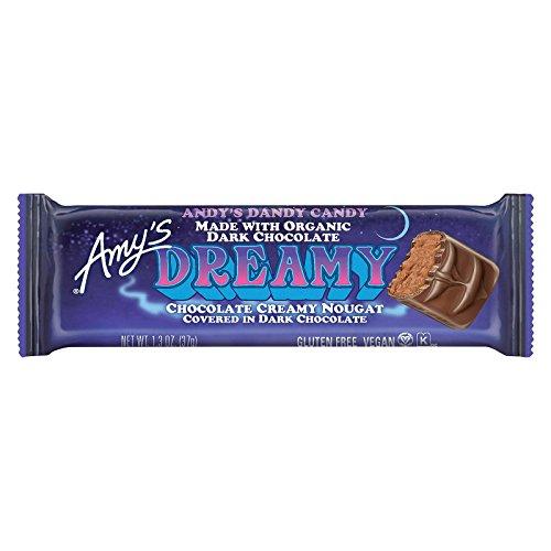 Vegan Candy Bars - Amys Organic Vegan Dreamy Candy Bar, 1.3 Ounce - 12 per case.
