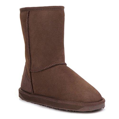 Classic Ladies Just Chocolate Boots Short Sheepskin Sheepskin w44tqZ