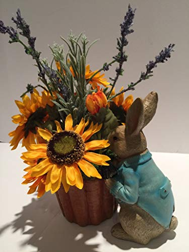 HOLDING CARROT PLANTER WITH SUN FLOWERS - SPRING - SUMMER - EASTER - MOTHERS DAY - BIRTHDAY - ANNIVERSARY - ELDERLY LIVING RESIDENCE - TEACHER APPRECIATION - GRADUATION - NUSERY DECOR