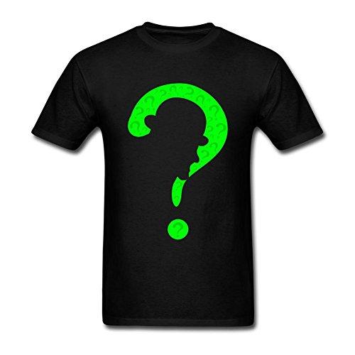[Kittyer Men's Riddler Design Cotton T Shirt S] (The Riddler Suit)
