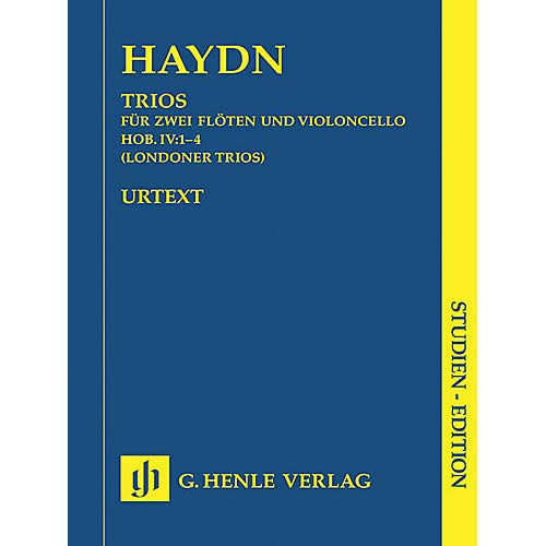 London Trios HobIV:1-4 (Study Score) Henle Study Scores Series Softcover Composed by Joseph Haydn- Pack of 2