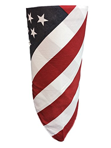 American Flag VELCRO®Brand Adjustable Close Reversible Motorcycle Rider Face Scarf Bandana Cover Wind Dust Protection For Patriotic Veteran Biker ()
