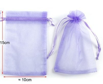 Li_unmio 10 * 15cm Pack of 50 Organza Drawstring Gift Bag Pouch Wrap for Party/Game/Wedding