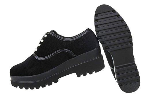 Damen Schuhe Halbschuhe Moderne Schwarz