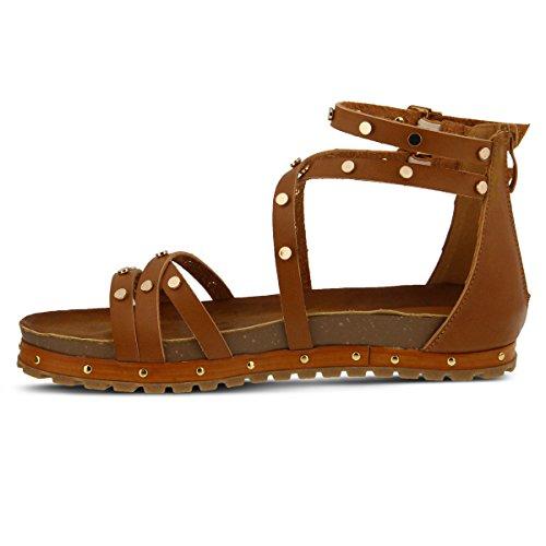 PATRIZIA Strappy Low Platform – Ankle Strap Sandals For Women (9.5-10, Camel) Strappy Ankle Strap Platform Sandal