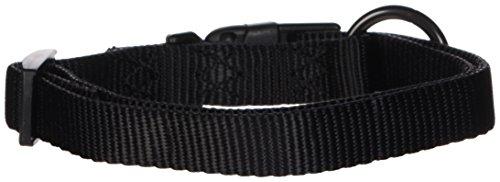"""Hamilton Adjustable Nylon Dog Collar, Black, 5/8"""" x 12-18"""""""