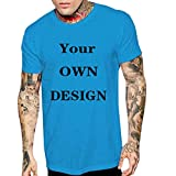 aiNMkm Workout Shirts Tall,Fashion Men Casual Summer Skull Print Short Sleeve O-Neck Tops Blouse T-Shirts,Blue,M