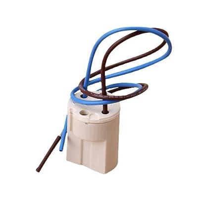Socket-TOOGOO(R)Socket G9 Ceramic Light Holder 2A 250V