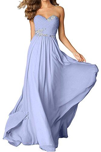Gruen Lemon Braut mit La Brautmutterkleider Herzausschnitt mia Chiffon Langes Festlichkleider Abendkleider Damen Lilac 1wqOx