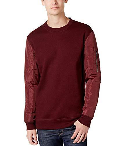 Pullover Scarlet Sweatshirt (American Rag Mens Nylon Sleeve Sweatshirt (Dark Scarlet, Small))