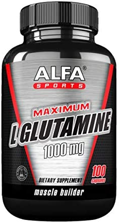 Maximum L-Glutamine 1000 Mg 100 Capsules. Extreme Sports Nutrition. Muscle Volume. Post Workout Recovery