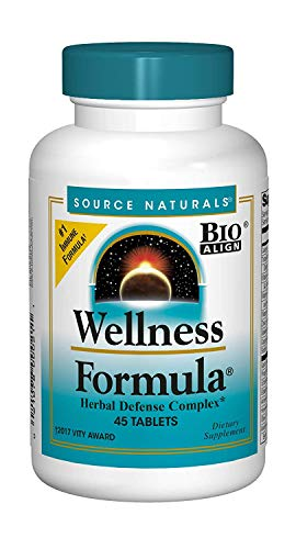 Source Naturals Wellness Formula Bio-Aligned Vitamins & Herbal Defense - Immune System Support Supplement & Immunity Booster - 45 Tablets