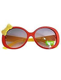 Kids Cute Fashion Bowknot Decoration Fun Sunglasses Gift Red Frame