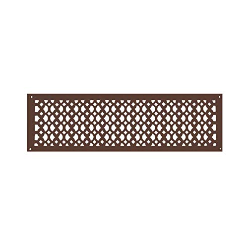 Powder Coated Vent Cover - Cast Aluminum Air Return Grille Brown - Handcrafted, Re-Paintable HVAC Floor Vent - Heavy Duty Air Return Grill 6