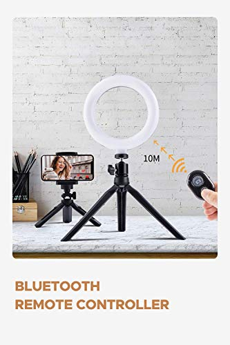 MUSON LED Selfie Ring Light with Tripod Stand & Phone Holder, 6\
