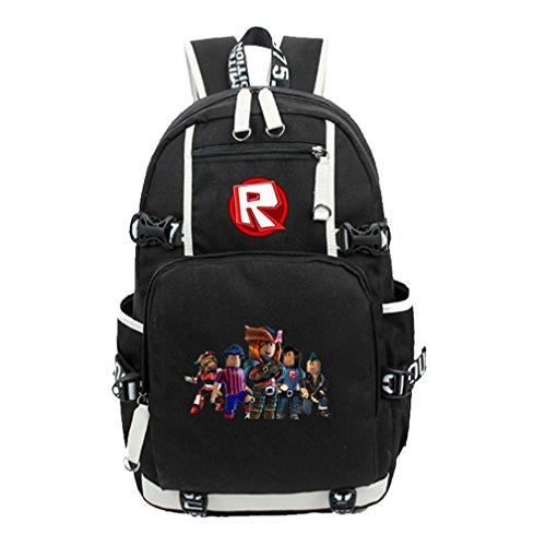 - Roblox Backpack Schoolbag Book Bag Bag Pack Handbag Travelbag (RB-Black)