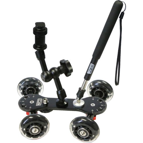 Vidpro SK-22 Professional Skater Dolly for Digital SLR Cameras & Video Camcorders with Accessory Kit