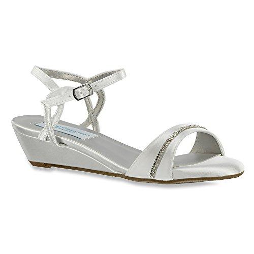Dyeables, Inc Womens Mallory Dress Sandal White