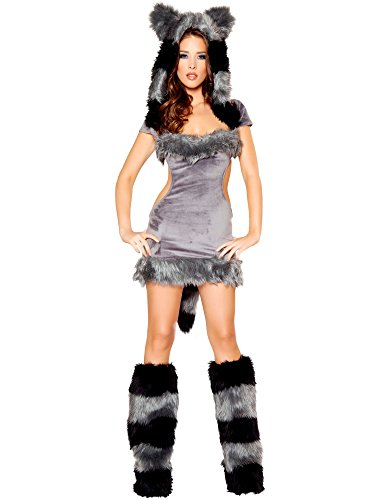 [Women's Sexy Naughty Raccoon Deluxe Costume] (Naughty Raccoon Sexy Costumes)