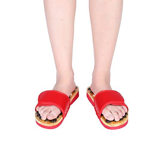 Foot Maison De Massage Soins noir Stone Accupressure Natural Pour La Les Des Reflexology Chaussures Rot À 39 Pieds 4qBIww
