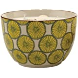 Paddywax Candles Boheme Collection Candle in Hand Painted Ceramic Bowl, 12.5-Ounce, Black Coconut and Amber