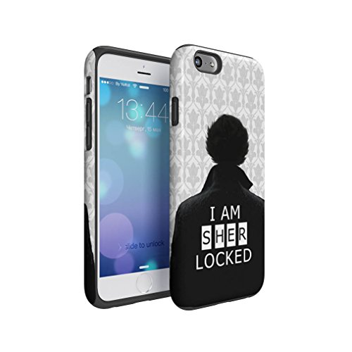 Sherlock Holmes I Am Sherlocked Hybrid Hard Plastic Outer & TPU Inner Layer Shock Absorbing Tough Protective Phone Case Cover Shell For iPhone 6 & iPhone 6s