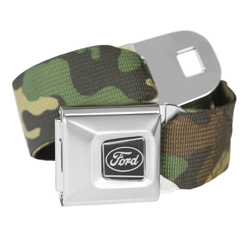Camouflage Ford Seatbelt Buckle Fashion Belt - Officially Licensed (Buckle Belt Camo Seat)