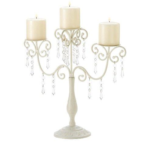 25 Ivory Elegance Candelabra (Birdhouse Lantern Candle)