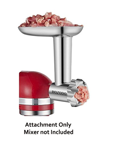 HOZODO Metal Food Meat Grinder Attachment for Kitchenaid Stand Mixers-Sturdy Mixer Accessories as Food Processor (Metal Sausage)