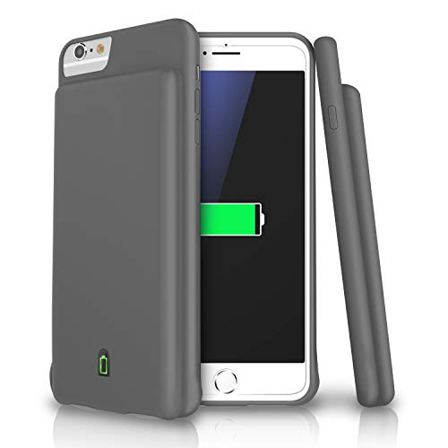 (Battery Case for 4.7'' iPhone 8/7/6s/6 4500mAh Ultra Slim Extended Battery Rechargeable Protective Portable Charger Support Headphones (Grey) )