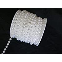 8 mm Large White Pearls by the roll - 66 feet
