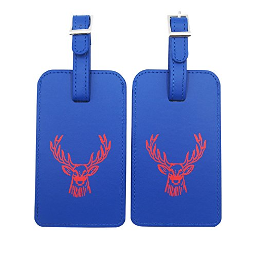 Best M Luggage Tags PU Leather Travel Bag Tag For Baggage with...